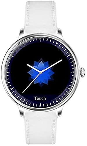 Reloj inteligente Fitness Relojes Moda Señora Ronda Pantalla Smartwatch adecuado para niña monitor de ritmo cardíaco adecuado para Android y lOS-C