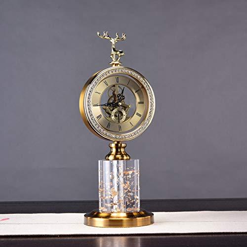 Reloj De Manta De Vintage, Reloj Despertador, Súper Silencioso Sin Ticking Pequeño Reloj, Operado por Batería, Simplemente Diseño, para Sala, Dormitorio, Cama, Escritorio, Reloj De Regalo