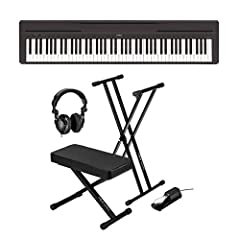 BUNDLE INCLUDES: Yamaha P-45 88-Key Entry Level Digital Piano | Pedal/Footswitch | Music Rest | PA150 AC Adapter | Yamaha 3 Year Limited Warranty | Keyboard Stand | Keyboard Bench | Keyboard Pedal | Studio Monitor Headphones Authentic to the touch: Y...