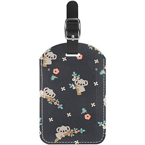 Gepäckanhänger Süße Kletteräste Koala-Leder Reise-Koffer-Etiketten 1 Packung