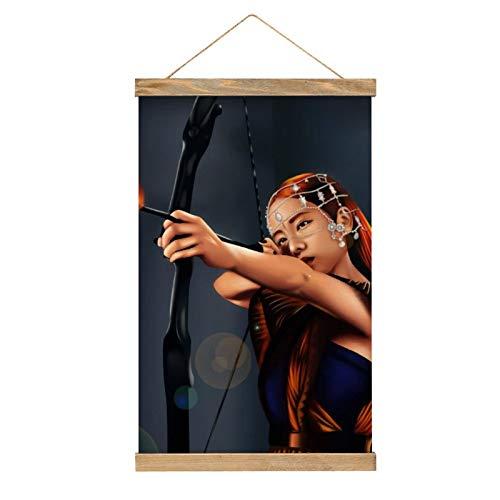 Lienzo de alta calidad para colgar un cuadro, mural de póster de JISOO KILL THIS LOVE, fácil de instalar, 33.1 x 50.4 cm.