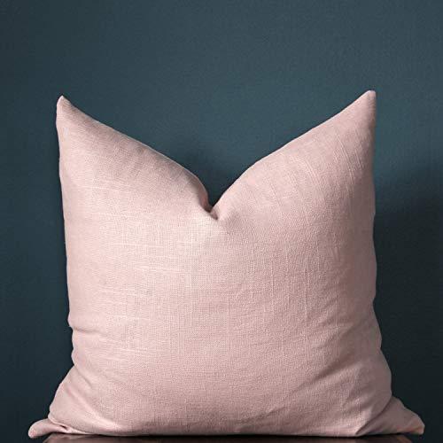Fundas de almohada de algodón y lino, hechas a mano, cómodas, para decoración familiar de coche, hogar, sofá, sala de estar, dormitorio al aire libre, 35,5 x 35,5 cm