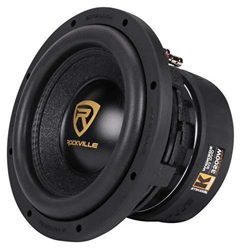 Rockville W10K9D2 10' 3200w Peak Car Audio Subwoofer Dual 2-Ohm Sub 800w RMS CEA Rated
