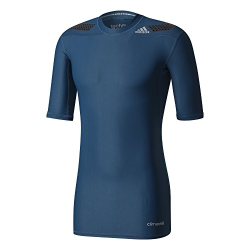 adidas Herren Techfit Powerweb Short Sleeve T-Shirt, Petnit, M
