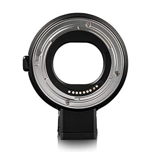 SALALIS Black Wear Anillo Adaptador de Lente fácil de Instalar EF-EOS M AF, para Lente Canon EF EF-S para cámara sin Espejo Canon EOS M