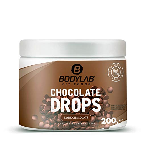 Bodylab24 Chocolate Drops Dark 200g | Low Carb Schokodrops Zartbitter | nur 2g Zucker je 100g