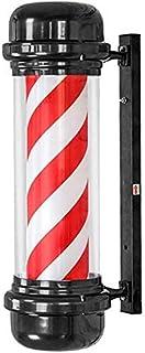 SAFGH Luz giratoria para peluquería al Aire Libre, Poste de peluquería Luz de peluquería a Prueba de Agua, señal de Giro g...