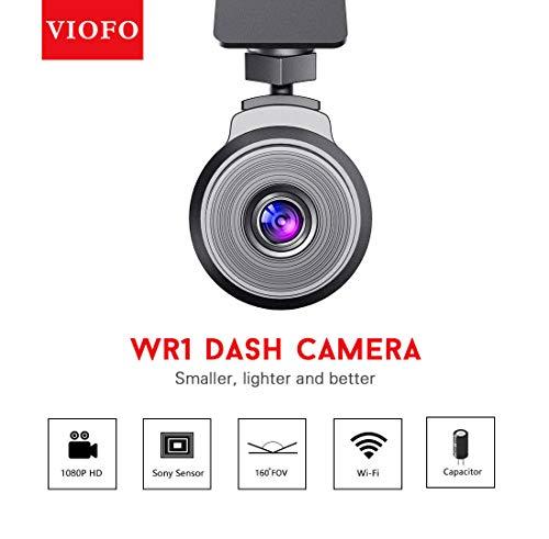 VIOFO Kamera an Bord Full HD 1080P (160 °) mit WLAN und Nachtsicht für Sony IMX323-Sensor, mobile Anwendung, Superkondensator und G-Senso (WR1)