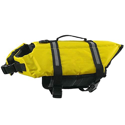 Salvavidas para perros Chaleco salvavidas Salvavidas Chaleco para perros Chaleco salvavidas autoinflable para mascotas Amarillo claro