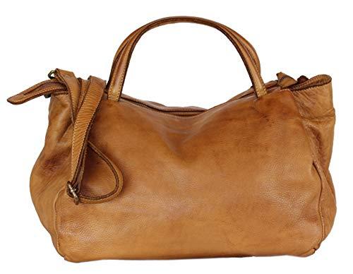 BZNA Bag Diana cognac braun Italy Designer Damen Handtasche Schultertasche Tasche Leder Shopper Neu