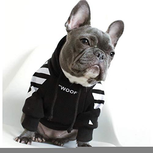 FORMEG Hundekleidung Haustier Französische Bulldogge Kleidung Hund Hoodie Warme Sport Retro Hund Hoodies Haustierkleidung Puppy Dog Pugs Puppy Kleidung Chihuahua