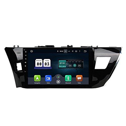 KUNFINE Android 10 Octa Core 4G Ram 32 Go de ROM Autoradio GPS La Navigation DVD Lecteur multimédia Commande au Volant Headunit Stéréo PourTOYOTA Corolla 2014-2015 Left