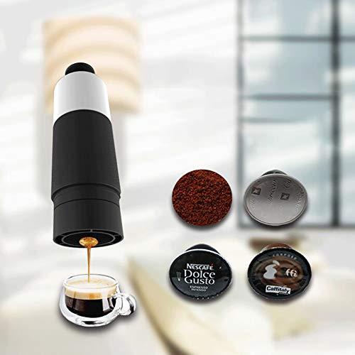 LIGHT Machine à Expresso Portative Cafetière de Voyage Petite Taille Machine à Café Portable pour Voyage Camping Randonnée,Capsuleversion