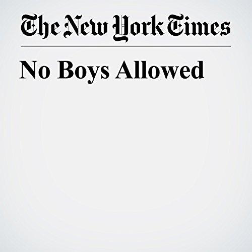 No Boys Allowed copertina