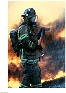 Posterazzi Firefighter at a rescue operation Poster Print (18 x 24)