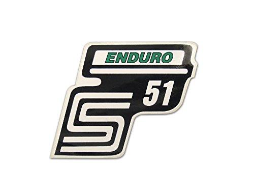 2X Aufkleber Schriftzug S51 Enduro grün Seitendeckel v. BJ-Handel