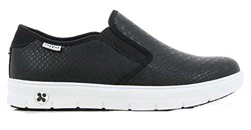 Oxypas Neu Fashion Berufsschuh komfortabeler Sneaker Selina aus Leder antistatisch (ESD) in vielen Farben (41, schwarz)