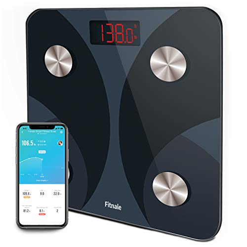 Find Cheap Fitnale Smart Digital Weight Scale, Bathroom Body Fat Analyzer Tracks 12 Key Compositions...