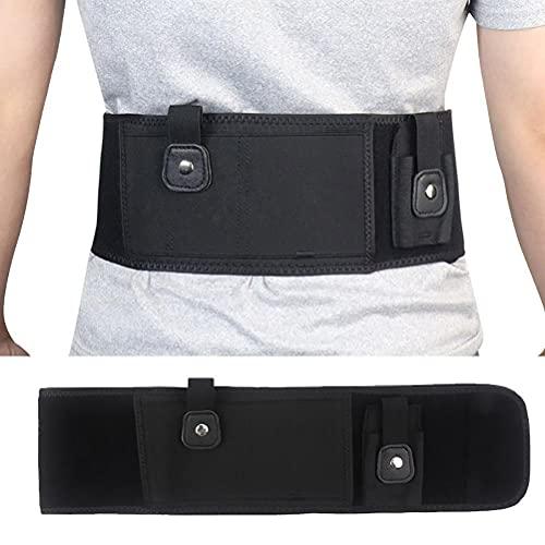 Asotagi - Fascia da pancia per il trasporto nascosto, invisibile, cintura in vita in neoprene traspirante a destra o sinistra, con 3 tasche per addome nascosto fondina