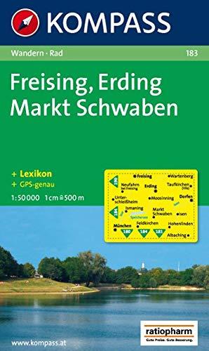 Freising, Erding, Markt Schwaben: Wanderkarte mit Kurzführer und Radwegen. GPS-geeignet. 1:50.000