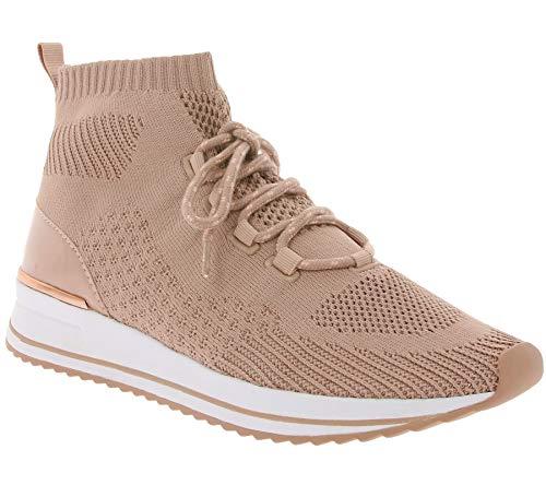 ALDO Sneaker-Boots modische Damen Schlupf-Boots mit Schnürsenkeln Freizeit-Schuhe Turnschuhe Rosé, Größe:41