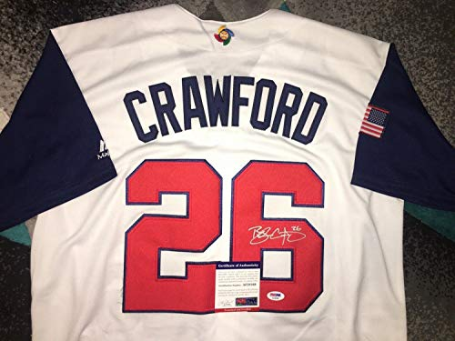 Brandon Crawford Autographed Signed Team Usa Jersey San Francisco Giants 2017 Champs PSA/DNA