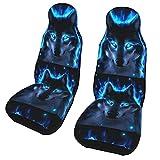 Funda de asiento para coche Unique Wolf Funda para silla de coche Protector universal para asiento delantero de coche 2 piezas