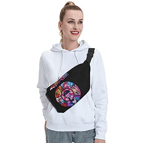 Skylivenation My Little Pony Rainbow Dash Sling Bag Mochila bandolera resistente al aire libre, mochila antirrobo en el pecho, mochila ligera para senderismo, bolsa de viaje para hombres y mujeres.