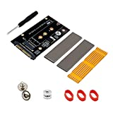 Juego de Tarjetas adaptadoras SSD M.2 Key M SSD to SFF-8639 Tarjeta de expansión Vertical de Disco Duro U.2 para NVME SSD 2230/2242/2260/2280