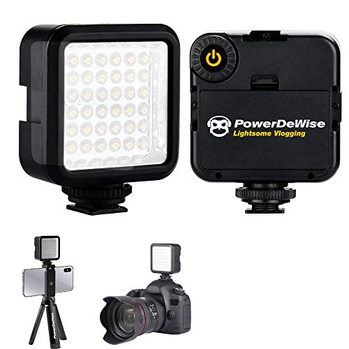 PowerDeWise Video Conference Lighting Dimmable Led Light, Video Light Easy 3 Cold Shoe Mount On Phone Tripod Video Camera Portable Light Best Gifts for Teenage Girls TIK Tok Lights (Without Battery)