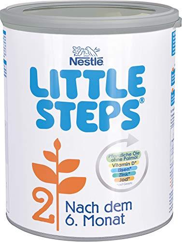 Nestlé LITTLE STEPS 2 Folgemilch im Anschluss an das Stillen, nach dem 6. Monat, 1er Pack (1 x 800g)