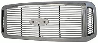New Front Grille For 2005-2007 Ford Pickup Superduty, F450 Superduty and F550 Superduty With Chrome With Billet FO1200459