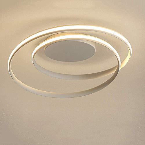 WGFGXQ Lámpara de Techo LED Moderna Estilo de diseño de Anillo Elegante Lámpara de araña Accesorio de iluminación Lámpara Colgante Lámpara de Techo de Montaje Empotrado contemporánea para Sala de e