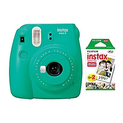 Fujifilm Instax Mini 9 - Parent - Instant Camera + Fuji INSTAX Mini Film Twin Pack by FUJIFILM