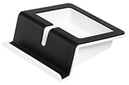 HAN Tablet Stand UP – moderner Tabletständer mit Soft-Grip Oberfläche, Kabelhalterung und Innenschale, schwarz-weiß, 92100-13
