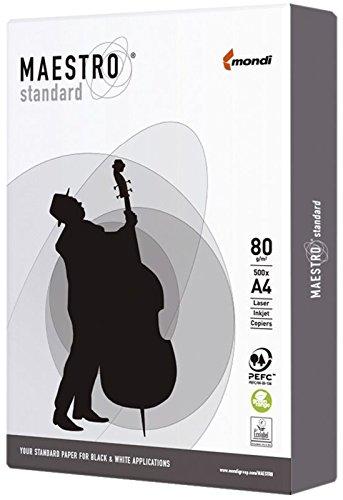 MAESTRO 9498A80S STANDARD Papier - A4, 80 g/qm, 500 Blatt, weiß