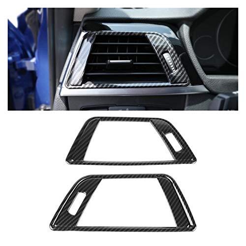 zhuzhu Ajuste for BMW 3 Series F30 2013-2018 2 UNIDS Estilo de Fibra de Carbono Estilo Aire Acondicionado Aire Acondicionado Cubierta de ventilación Trim Pegatinas de Marco