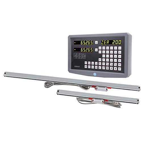 Digitales Ausleseset für Gitterlineal, Eingangsspannung für Digitalanzeige AC100-240V mit 470 mm Gitterlineal-Stromkabel für elektrische Geräte(EU Plug)