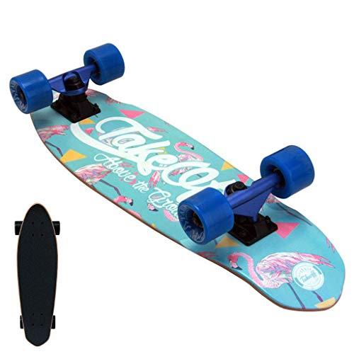 26-Zoll-Geschenk Skateboard, Deck-Tanz-Skateboard, Complete Skateboard, 7-Schicht Maple Doppel Kick-Adult Stunt Anfänger Skateboard, mit PU-Wear Räder, sehr geeignet for Erwachsene, Jugendliche, C LQH