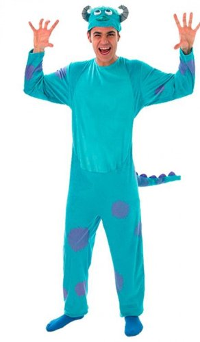 Disney Monster University Herren Kostüm Sully zu Karneval Gr.48-52