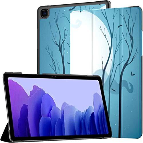 Funda para Samsung Galaxy Tab A7 Tablet de 10,4 Pulgadas 2020 (sm-t500 / t505 / t507), Noche Estrellada de Halloween Árboles Secos Murciélagos Funda de Soporte de múltiples ángulos con activación/s