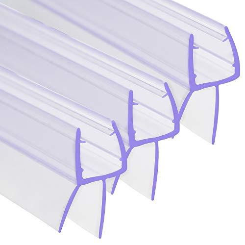 SWAWIS 3x 100cm Duschdichtung | Duschkabinen Dichtungen für 6mm, 7mm und 8mm Glastür Stärken | Premium Dichtung Dusche Glastür | Dichtung Dusche Duschlippe mit Wasserabweiser