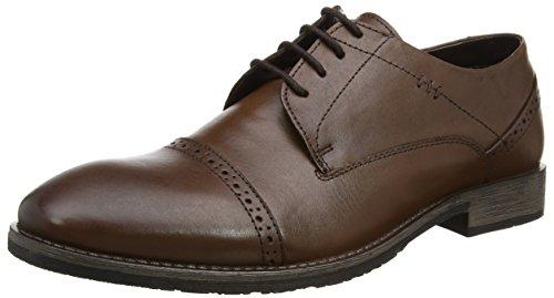 Hush Puppies Craig Luganda, Zapatos de Cordones Derby para Hombre, Marrón (Brown), 46 EU