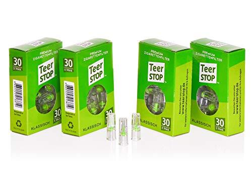Teer Stop Premium Zigarettenfilter für Raucher - Box (120)