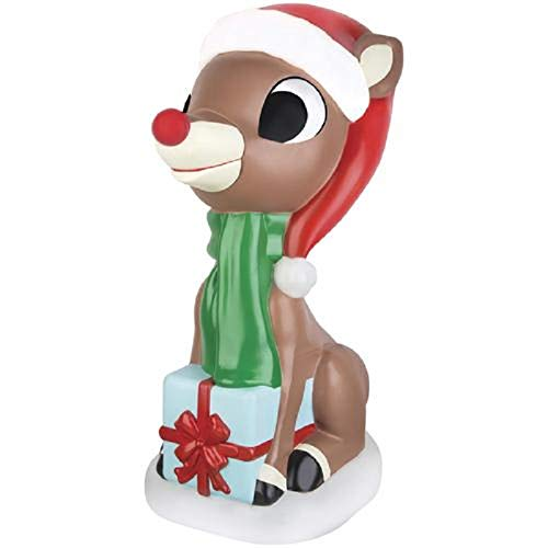 Home Collection Rudolph The Red Nosed Reindeer Blow Mold Outdoor Light Up Christmas Decoration Yard Lawn Garden Sculpture Seasonal Display