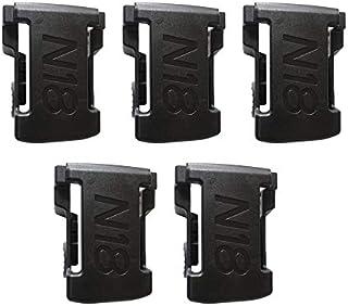 Fantasyworld 5PCS Soportes de batería para M18 48-11-1850 Estante de Almacenamiento Soporte para Rack Soportes Ranuras Suspensión Taladro eléctrico Batería Accesorios para Herramientas - Negro