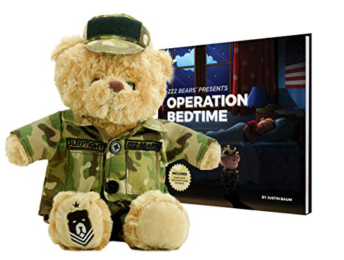 ZZZ Bears Military, Police and Fireman Teddy Bears Plush Toys to Honor, Protect and Cuddle at Bedtime (Army Camouflage)