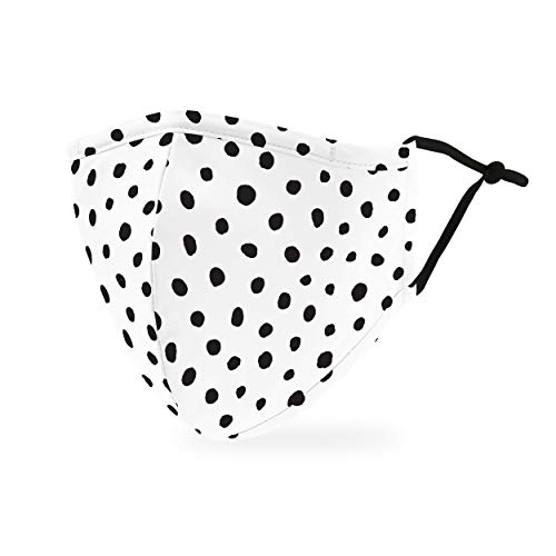Weddingstar 3-Ply Adult Washable Cloth Face Mask Reusable and Adjustable with Filter Pocket - Dalmatian Dot