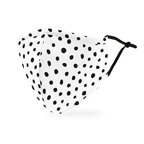Weddingstar waschbare, Mundschutzmasken aus Stoff. Wiederverwendbar und verstellbar mit Staubfiltertasche - Dalmatiner Punkte