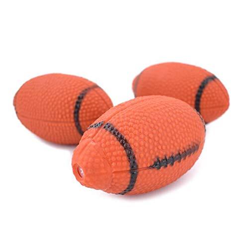 Jackson Wang Haustierball,Hundespielzeugball, mittelgroß, knarrend, American Football, geeignet für kleine und mittlere Hunde,2ball